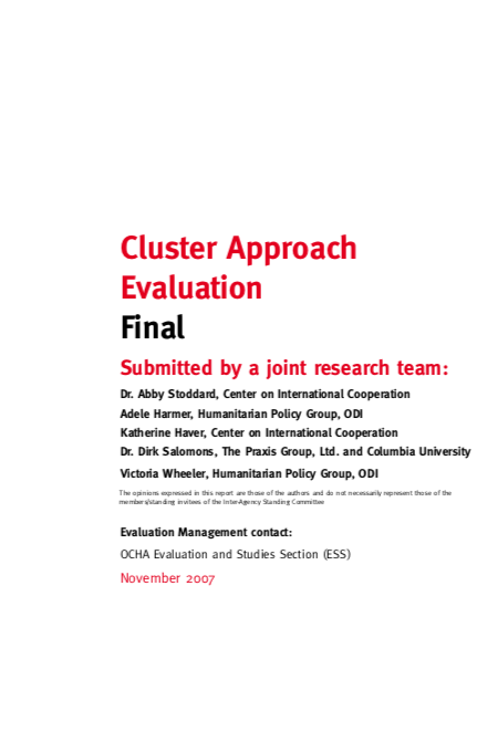 Cluster Approach Evaluation Final