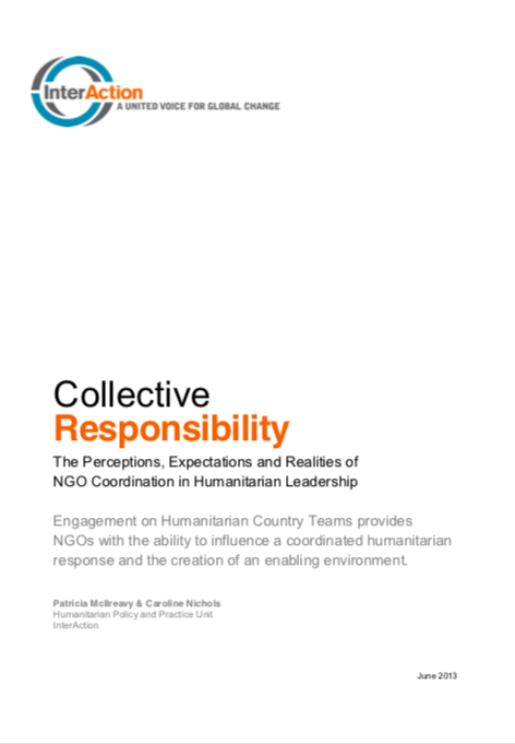 Collective Responsibility: The Perceptions, Expectations and Realities of NGO Coordination in Humanitarian Leadership