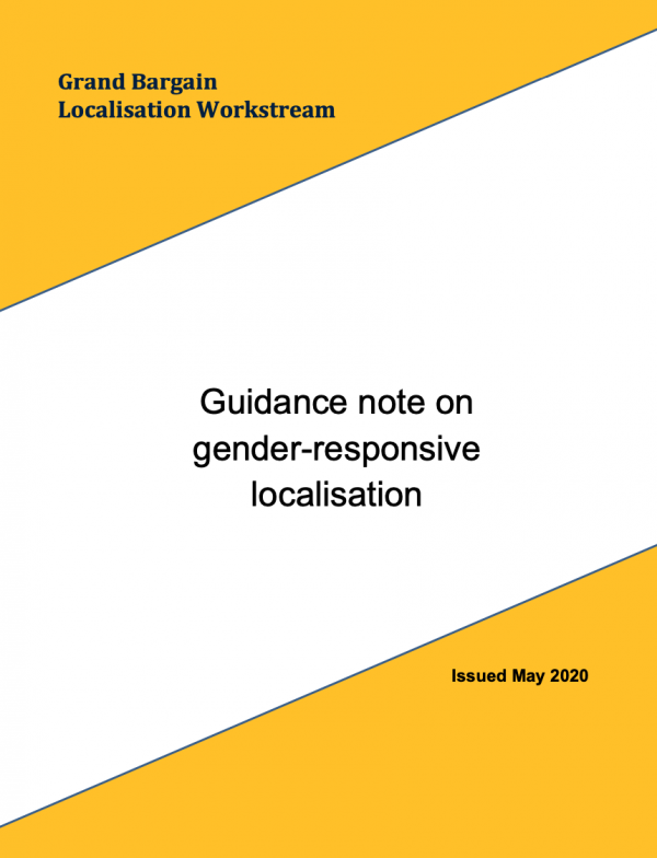Grand Bargain Localisation Workstream - Guidance note on gender-responsive localisation