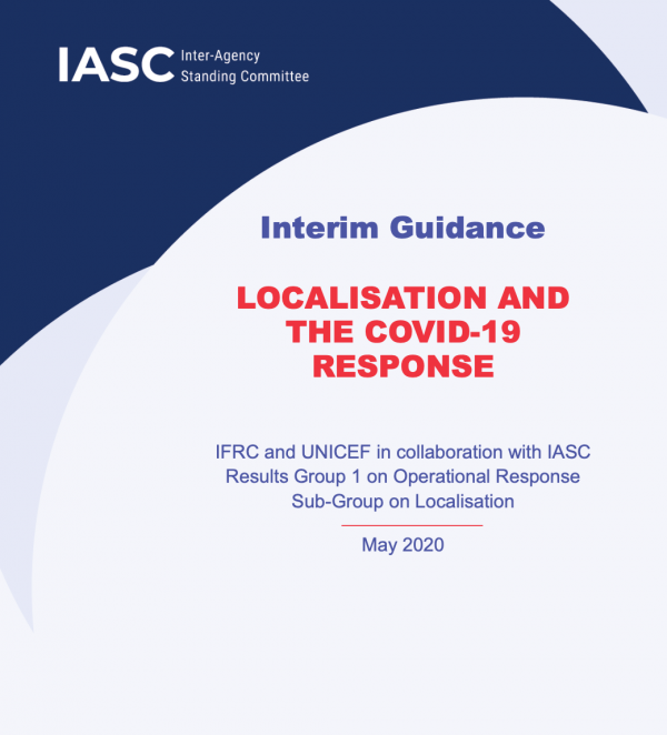 Interim Guidance - LOCALISATION AND THE COVID-19 RESPONSE