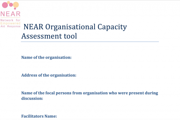 NEAR Organisational Capacity Assessment tool