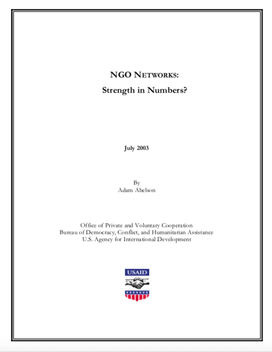 NGO NETWORKS: Strength in Numbers?