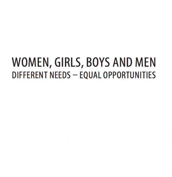 Women, Girls, Boys and Men. Different Needs, Equal Opportunities: IASC Gender Handbook for Humanitarian Action