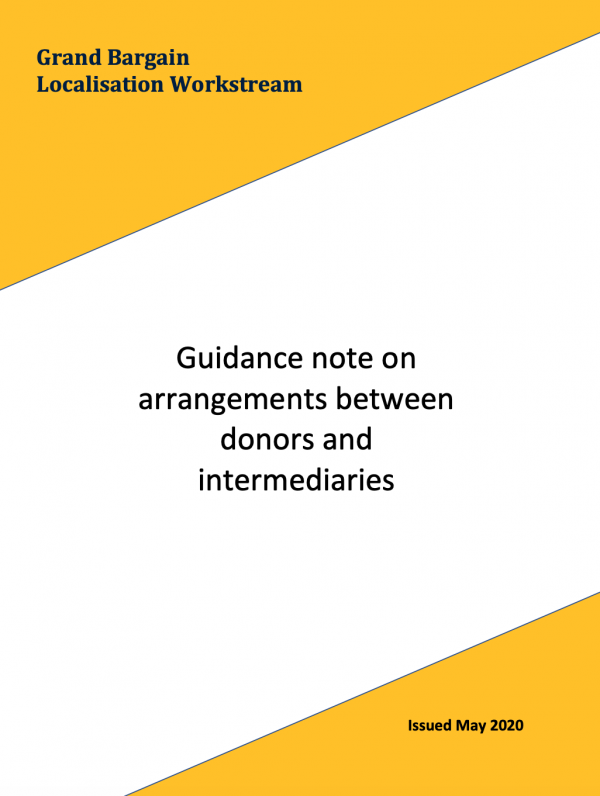 Grand Bargain Localisation Workstream - Guidance note on arrangements between donors and intermediaries