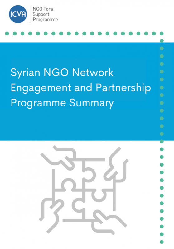 Syrian NGO Network Engagement and Partnership Programme Summary - 2020